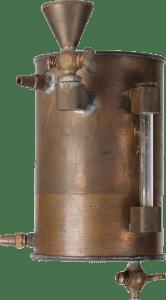 Vaporizador Copper Kettle para éter, halotano y enflurano. Marmita de cobre. 1950-1960.