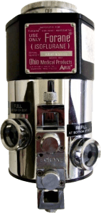 Vaporizador de isoflurano (Forane). 1970-1990.
